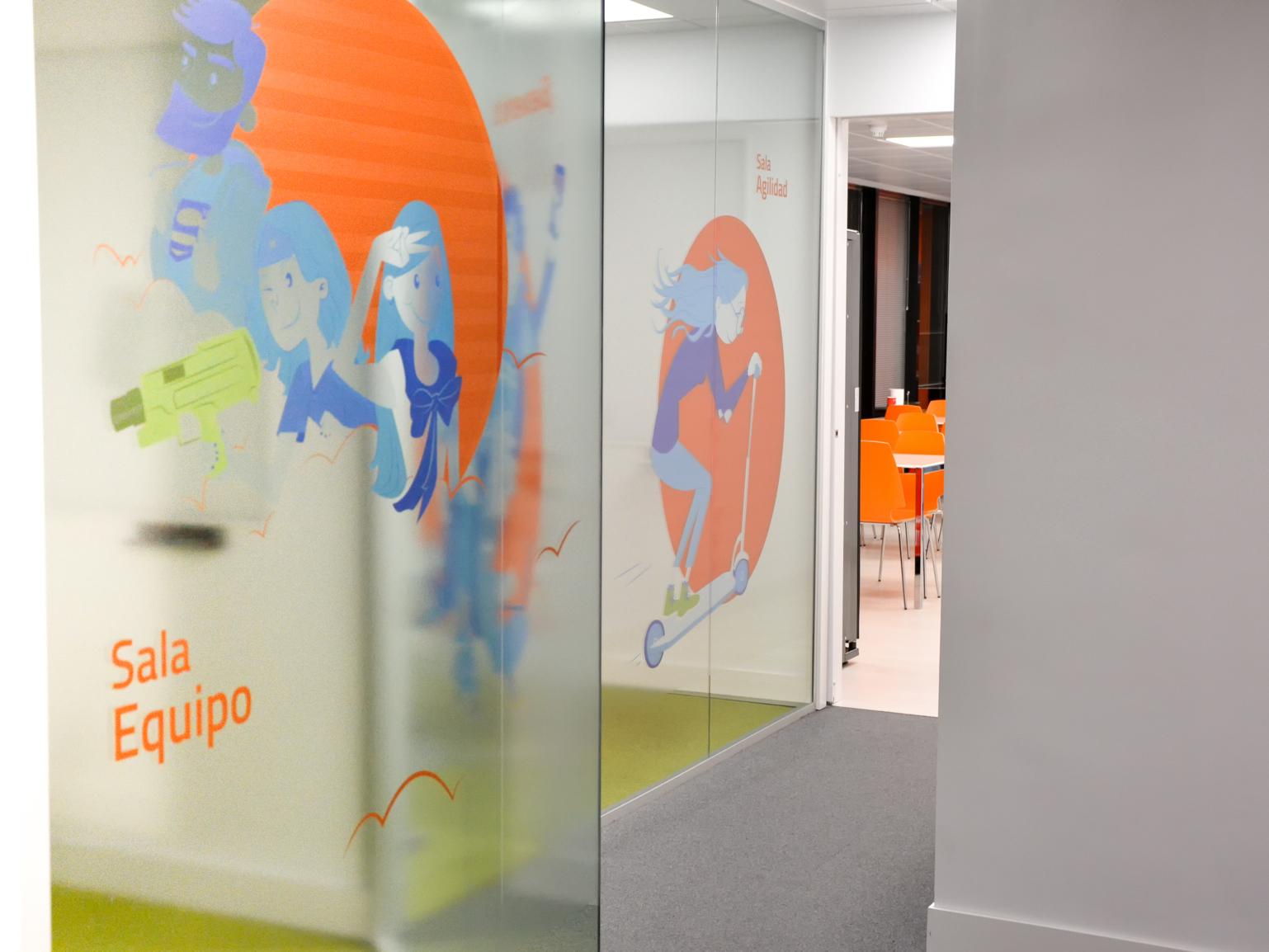 Mural company office mural branding vector design character illustrator illustration adobe illustrator
