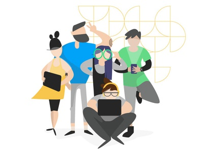 Tech Team _ Goodly tech technology teams characterdesign illustration illustrator vector character adobe illustrator design