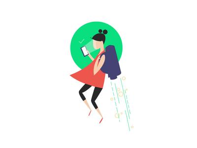 Ok - Goodly ok good technology future mobile tech branding design character vector illustrator illustration adobe illustrator