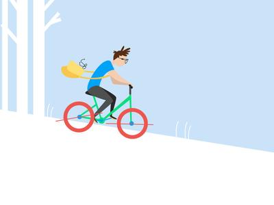 Bicycle - Goodly bicycle bike tech branding character vector illustrator illustration adobe illustrator