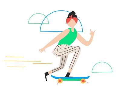 Yeah - Goodly yeah skate skater tech branding design character vector illustrator illustration adobe illustrator