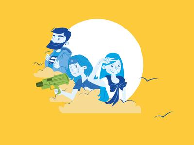 Nerdis adobe illustrator tech technology branding design character vector illustrator illustration