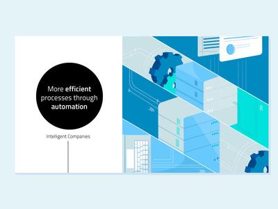 Intelligent Companies automation technology vector illustrator illustration adobe illustrator