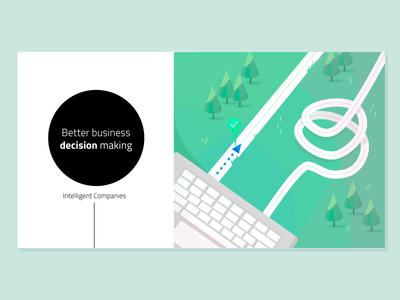 Intelligent Companies directions right technology design vector illustration illustrator adobe illustrator