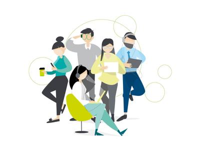 Startme Up - Deloitte tech technology branding design character vector illustrator illustration adobe illustrator