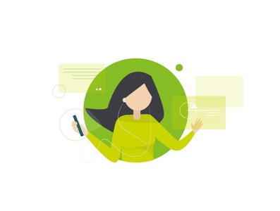 Connecting - Deloitte connecting tech technology branding design vector character illustrator illustration adobe illustrator