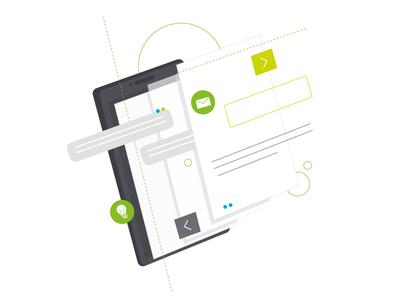 Mobile - Deloitte mobile tech technology branding design character vector illustrator illustration adobe illustrator