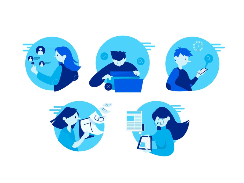 Task mobile tech technology branding design character vector illustrator illustration adobe illustrator
