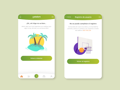 Cetelem App error bank app ui mobile branding design vector character illustrator illustration adobe illustrator