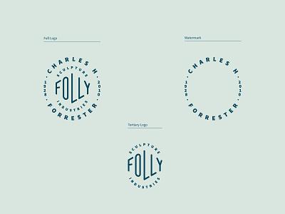 CHF Logo System type identity charles forrester sculpture watermark design system branding typography freelance logo