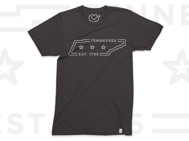 750d2f4331 TN Est. 1796 icon lines t-shirt illustration contest tee shirt apparel 50  states