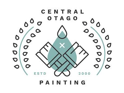 Cop Variation 2 illustration logo brush fern drop drip paint painting central otago