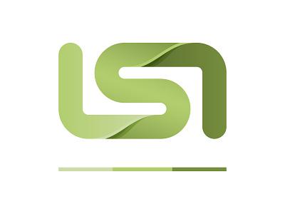 LSI unused rebrand service green illustration depth gradient logo landscape