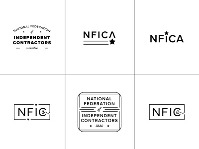 NFICA Unused emblem star concepts ideas national contractor independent nfica logo