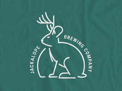 Jackalope shirt animal illustration fun line work icon logo brewing brewery creature mythological mythology myth jackalope