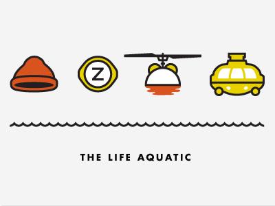 The Life Aquatic with Steve Zissou icon logo red cap the life aquatic four icon challenge the sea