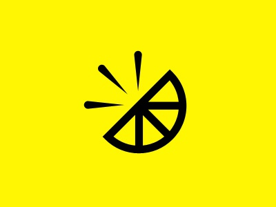 Squeeze logo illustration yellow black citrus lemon lime grapefruit