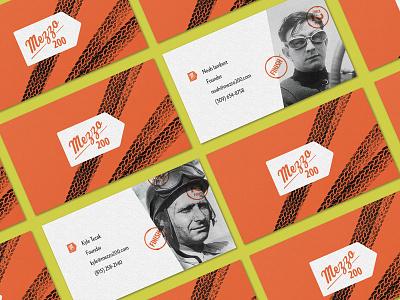 Mezzo 200 Business Cards brand identity vintage race car stationary stationery cards business