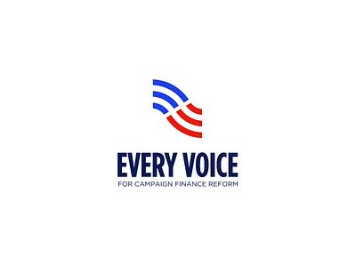 Every Voice cause usa identity branding logos logo ngo politics america