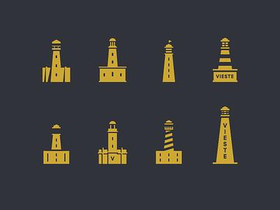 Lighthouses brand identity ocean icon logo lighthouse
