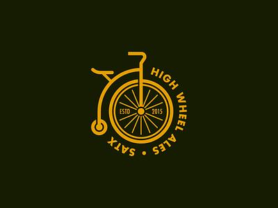 High Wheel Ales ale brewery beer badge bicycle bike logo