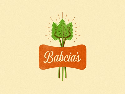 Babcia's Dry Cider nettle plant label cider identity logo