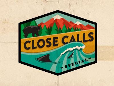 Close Calls field stream shark bear close calls outdoors mountains trees wave water