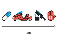Akira, Four Icon Challenge