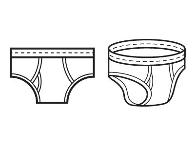 Undies underwear icons illustration undies flat 3-d