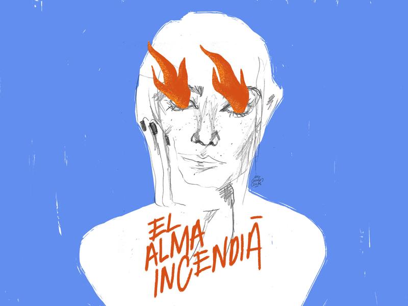 El alma incendiá woman woman illustration texture psd design fireart lettering lettering art typography design illustration