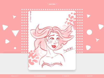 """ This Girl "" portrait illustration portrait art portrait animation line art lineart hairstyle haircut hair eyes details character design characterdesign character sketch shading art design illustration artwork"