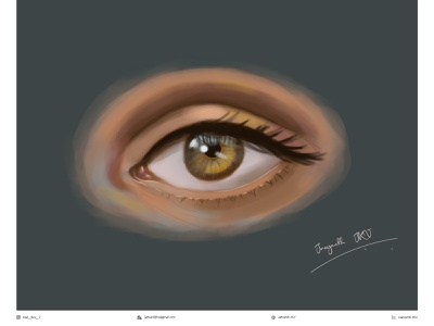 Detailed Eye digital painting (Case study) draw detailed realistic digital illustration digital painting digital art digitalart digital tutorial eyes eye drawing shading art illustration artwork design