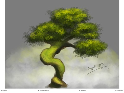 Tree digital painting (Case study) special effects texture adobe photoshop adobe photoshop game art casestudy sketch realistic environment digital painting digitalart brush shading illustration artwork design trees art tree
