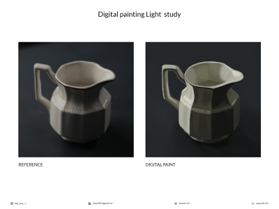 Light study text realistic brushes jar drawing light study casestudy photoshop digital illustration digital painting digital art digitalart digital shading art illustration artwork design