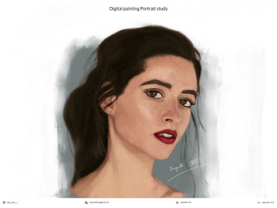 Digital Painting (Portrait) portrait illustration cute art adobe colors portraits casestudy photoshop illustration shading brush girl realistic sketch artwork art digital illustration digital painting digital art portrait painting portrait