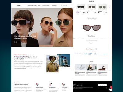 Optics store - Concept web store optica concept branding