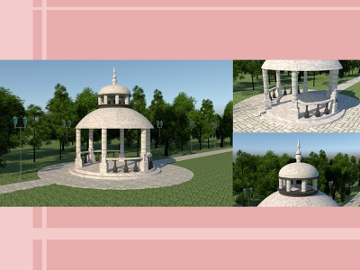 3d model of the rotunda 3d modeling 3d model 3d artist 3d model design sketchup architectural architecture architect