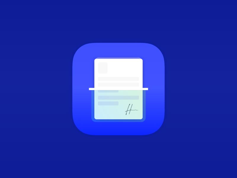 Scanner App Icon ui logo creative design design design app ios art direction art application app design app