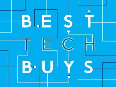 Best Tech Buys design typography type vector wires technology tech illustration