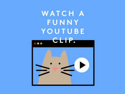 YouCat internet advice vector video funny youtube cat illustration
