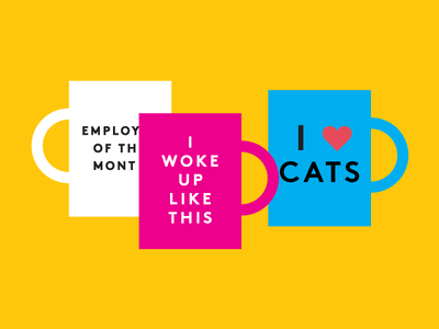 back to work funny job vector mug work beyonce cats coffee illustration