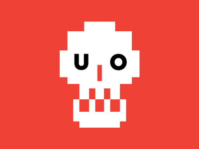 Uh Oh! dead vector pixel death skull illustration
