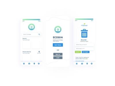 Ecobin eco friendly app ui ux userinterface gradient green app eco app ui app uxui ui ux