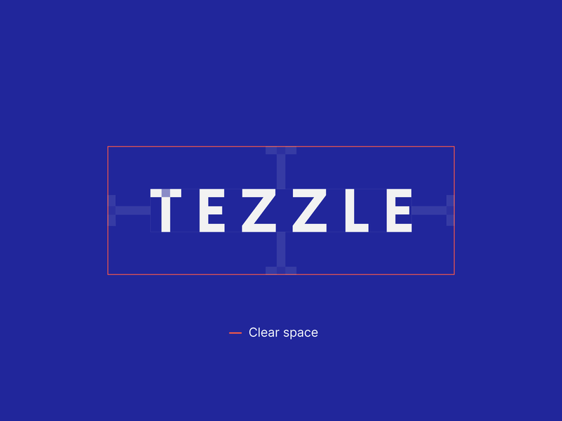 Tezzle - Logo clear space logodesign typography guideline guidebook flat logotype logo guidelines branding brand identity