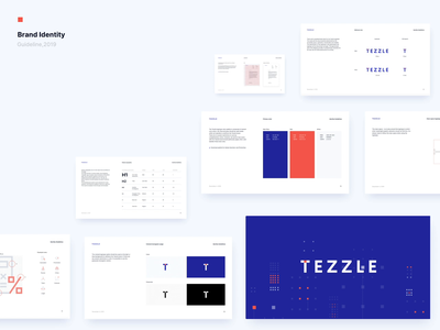 Tezzle - Brand identity guidelines palette colors iconography icons icon typogaphy guideline logo guidelines animation branding brand identity