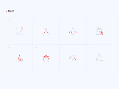Tezzle - Icons set iconography iconset icons guidebook guideline branding brand identity
