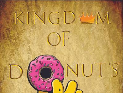 Kindom of Donuts illustration design donuts