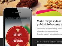 Mobile App Teaser Page
