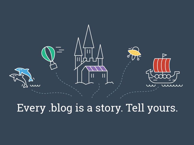 get.blog registrar blog vector story fantasy color line illustration
