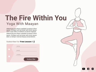 Yoga Lesson dailyui